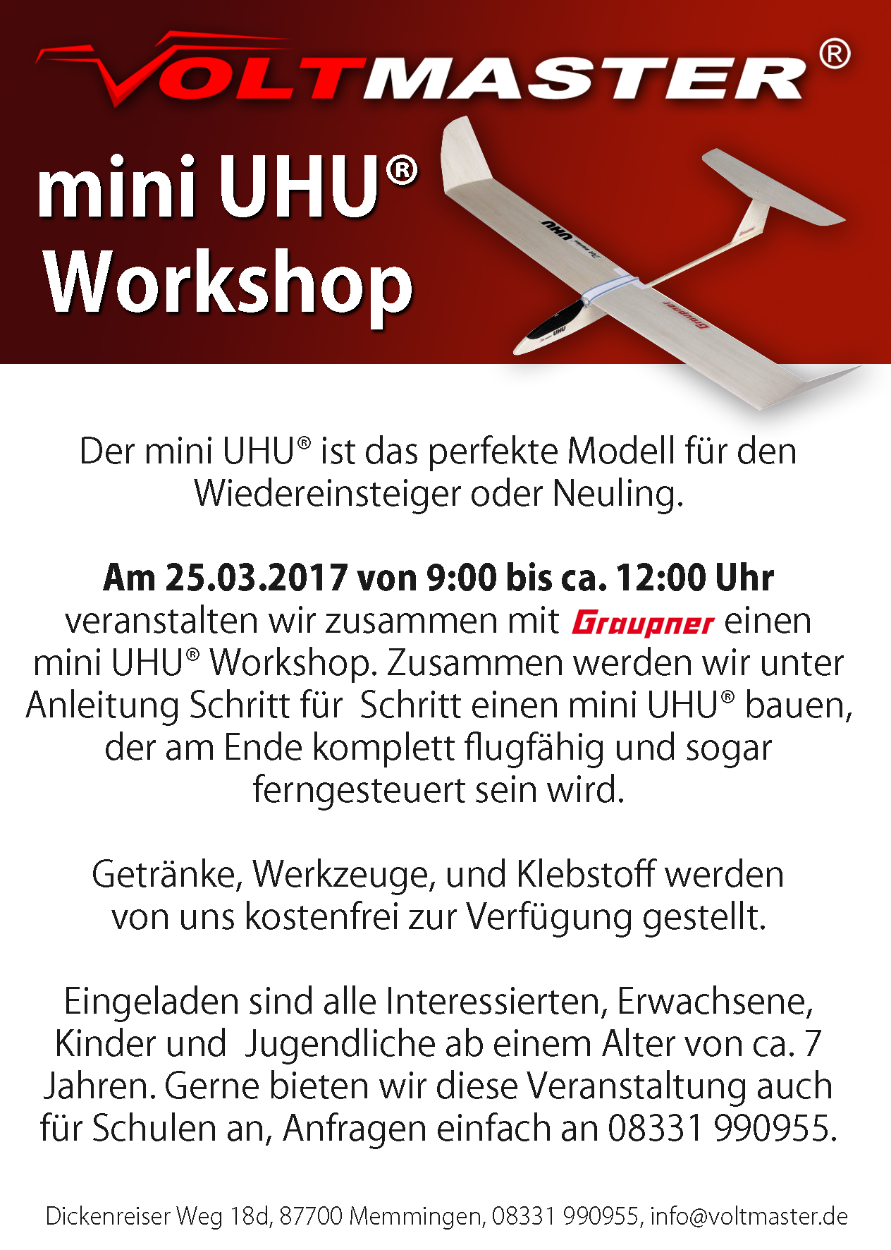 Mini UHU workshop vorderseite