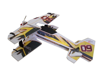 RC factory - Crack Pitts backyard schwarz/gelb 8mm EPP - 755mm