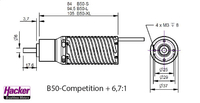 Hacker Motor B50-13XL Competition + 6,7:1 (10100905)