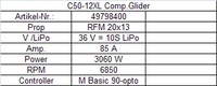Hacker Motor C50-12 XL + 6,7:1 Glider Competition (49798400)