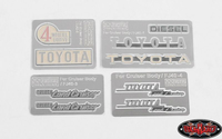 RC4wd - Complete Metal Emblems Set for RC4WD Cruiser Body (RC4VVVC0128)