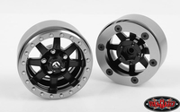 RC4WD Fuel Offroad Trophy 1.9 Beadlock Wheels (Black/Gray) (RC4ZW0202)