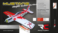 RC factory - Mustang red EPP - 780mm