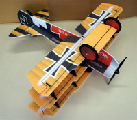 RC factory - Crack Fokker rot/gelb EPP - 890mm