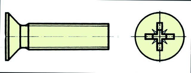 Extron Nylonschraube Senkkopf mit Kreuzschlitz M5X20 10 Stück