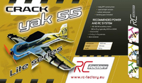 RC factory - Crack Yak indoor lite blau/gelb EPP - 800mm